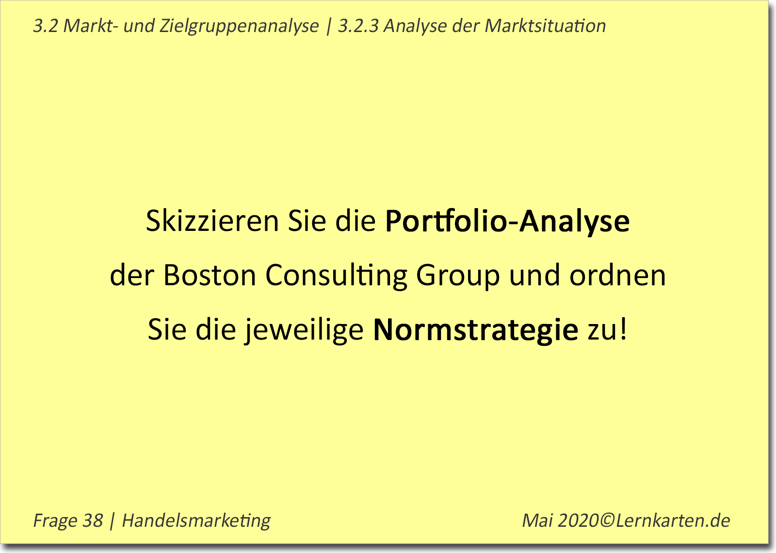 Handelsmarketing Handelsfachwirt Beispielkarte2
