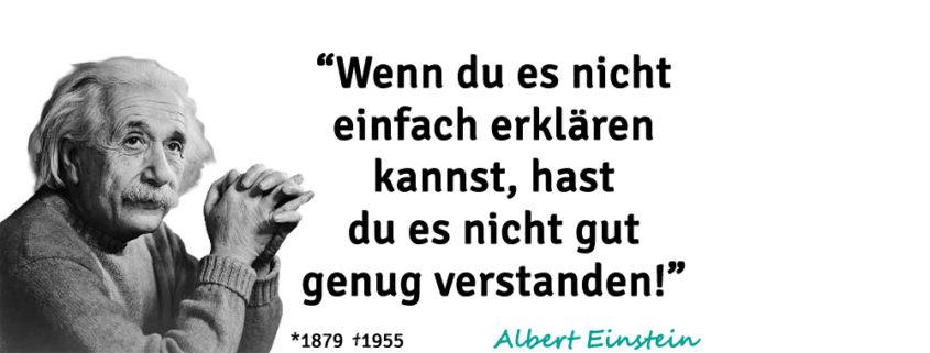 Albert Einstein Zitat