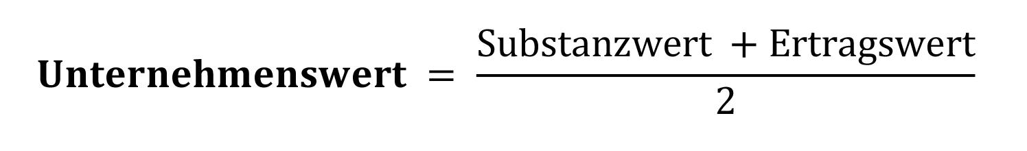 Formel Berechnung Unternehmenswert